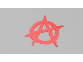 Anarchist logo A easy print