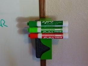 Eraser and 3 dry erase marker holder