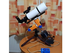 3D printed - Small Travel EQ telescope mount 2019