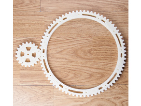 Gears for turntable