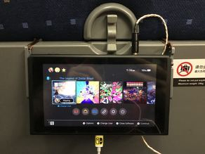Nintendo Switch hanger(mount) for plane & train tray table !