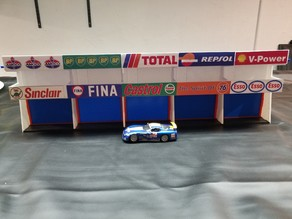 Slot Car Pit Lane Garage