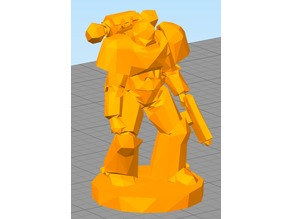 Lowest Poly Space Marine