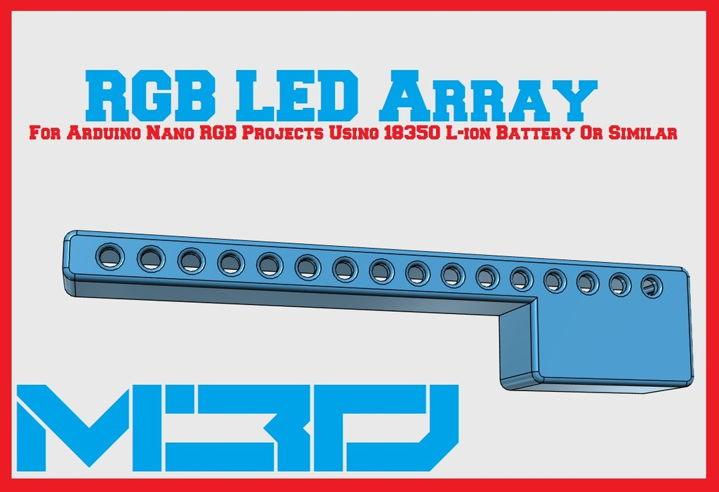 16-Hole 5mm RGB LED Array Base (For Arduino, NeoPixel, etc