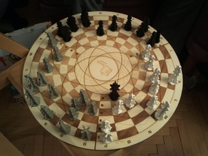 3 player chess board + matching figures
