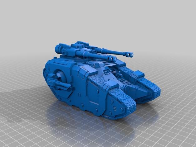S P R U E  Sicaran Battle tank WH40K (re)scaled by
