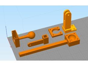 raspberry pi camera mount for 3d printer - 3 piece