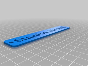 My Customized HD Font Keychain V2 (Stardos Stencil)