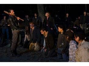 The Walking Dead Negan's line up lithophane
