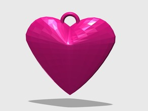 Heart 3D keychain
