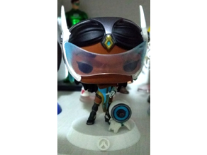 Symmetra Funko POP Stand with Overwatch Symbol