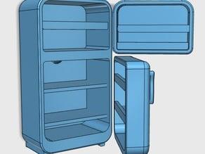 Miniature retro fridge