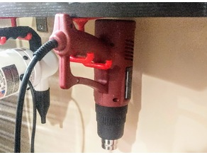 Under Desk or Shelf Holster / Hook For Chicago Electric 12 Setting Heat Gun
