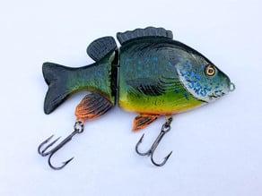 Realistic Sunfish Jointed Swimbait Fishing Lure