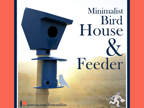 Bird House & Feeder - Pole Mounted