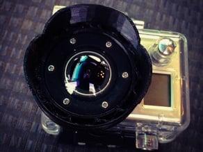 Lens Hood For GoPro Hero with Waterproof Case