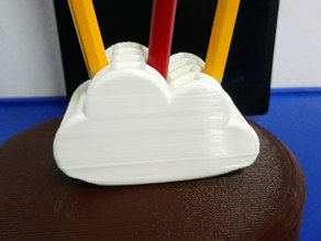Cloud pencil stand
