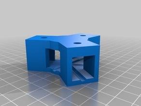 15x15 mm connector 120 degres for square round tubes aluminium profil
