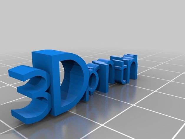 3D printing logo by dmurphy - Thingiverse