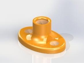 Filament passage guide, for storage boxes etc
