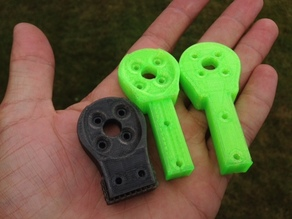 X900 tricopter motor mounts