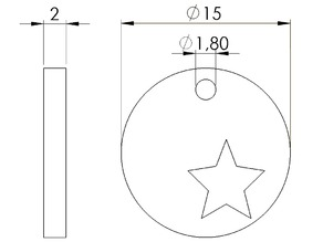 round pendant with star