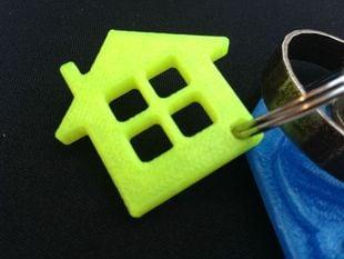 Home icon keychain