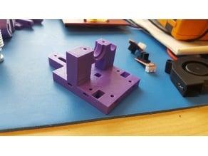 Hypercube Evolution extruder mount - square nut remix