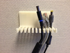 Cubicle Wall Cable Holder using T-Pins