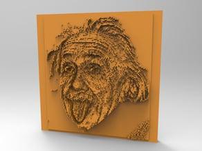 Minecraft 3DPrinting Art Tile - Albert Einstein's Face -