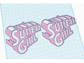 super girl earrings keyrring