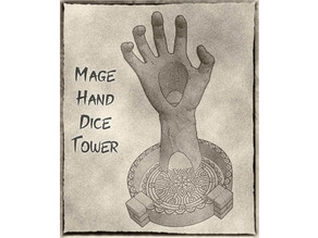 Mage Hand Dice Tower for Dungeons & Dragons, Warhammer or Pathfinder