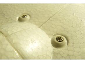 M3 foam wing screw supports