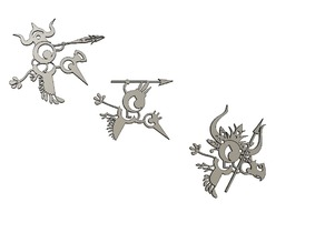 Patapon flying army decorative figurines