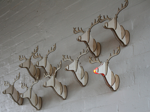 Mounted Deer / Reindeer Head