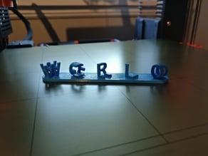 3D Ambigram