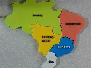 Map of Brazil - Regiões do Brasil