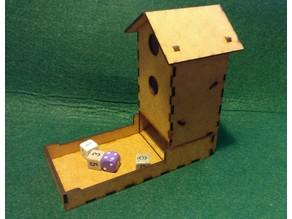 Wingspan Bird-Feeder Dice Tower, Laser Cut
