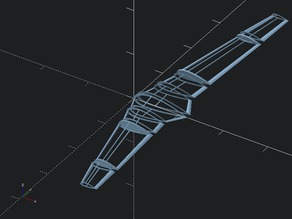 **UPDATED** OpenSCAD Parametric Flying Wing V2 (more sections!, spars!, control surfaces)