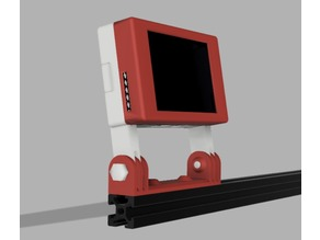 "2020 RPi 3b 3.5"" touchscreen mount for Octoprint-TFT/TouchUI/Repetier Server - fits Prusa Bear, Creality, Geeetech, Adimlab"