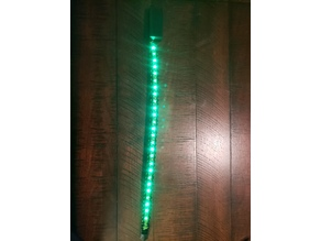 LED Paracord Dog Collar, Rechargeable