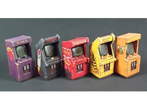 Arcade Game Cabinets 28mm Scale