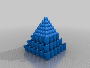 Moebius pyramid with spheres top..
