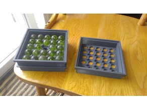 Marble Stackable Box with Lid