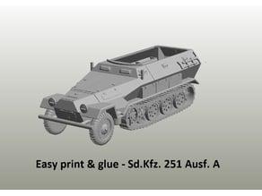 Easy print & glue - Sd.Kfz. 251 Ausf. A and Ausf. D