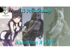3D PRINT READY!! Blake Belladonna from RWBY