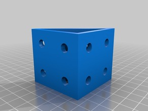 Corner Block With 8 Recessed Screw Holes