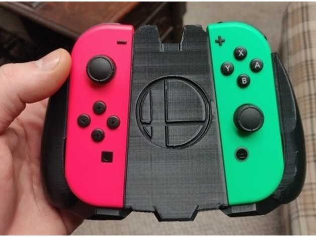 Super Smash Bros  Joycon Controller Grip by Deadpaul