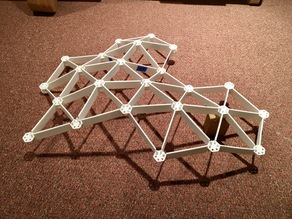 Model of a Plywood CNC'd Curved Space Frame