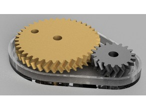 Double helical gear Toy